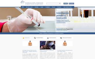 Página De Inicio Web Fundación Teknon Dartcom 03S.L