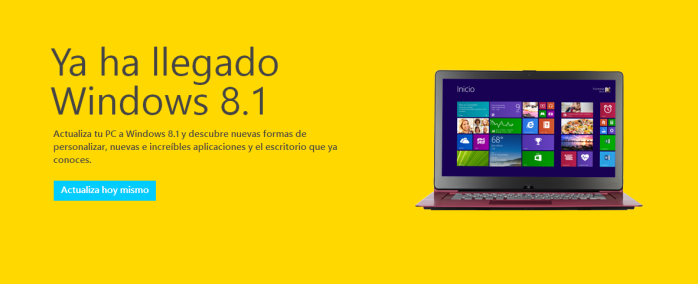 Ya ha llegado Windows 8.1